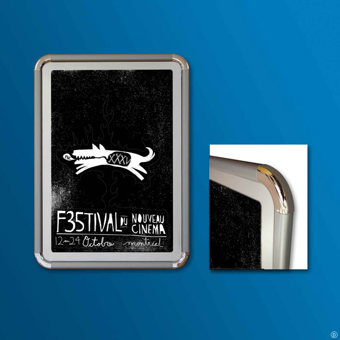 Poster Frame CL20 PVC, Wall frame – Poster Display – CanaFrame